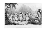 Afghan National Dance, Frontispiece to Volume II of 'Journey to the North of India' by Arthur… Giclee Print by H. Delafosse