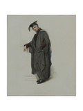 Bachelor of Law, Engraved by J. Agar, Published in R. Ackermann's 'History of Oxford', 1813 Giclee Print by Thomas Uwins