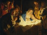 The Adoration of the Shepherds, 1622 Wydruk giclee autor Gerrit van Honthorst