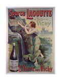 Poster Advertising 'source Lagoutte Du Bassin De Vichy', Natural Mineral Water Giclee Print by Georges Blott