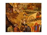 Return from the Kermesse (Detail) Giclée-Druck von Pieter the Younger Brueghel
