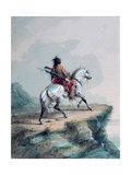 Crow Indian on the Lookout Giclee Print by Alfred Jacob Miller