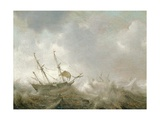 Shipping in a Squall Giclee Print by Jan Porcellis