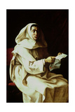 Portrait of a Monk of the Pueroni Family Giclee Print by Luigi Miradori