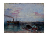 Seascape with a Boat Giclee Print by Joseph Mallord William Turner
