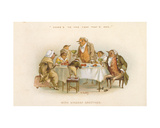 'Here's to the Year That's Awa', Victorian Christmas Card Giclee Print by R. Dudley