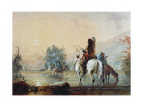Crow Encampment, 1837 Giclee Print by Alfred Jacob Miller
