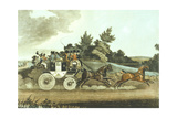 Stage Coach and Opposition Coach in Sight Giclee Print by James Pollard