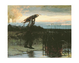 Man Carrying Sticks at Dusk, 1879 Giclee Print by William Gilbert Gaul