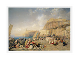 Procession on the Feast of Corpus Christi, Naples Giclee Print by James Duffield Harding