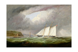Schooner Yacht 'Esmeralda' in Alderney Roads Off Cap Le Hague, 1861 Giclee Print by Arthur Wellington Fowles