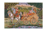 Radha and Krishna Giclee Print by  Indian School