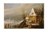 Winter Landscape, 1630 Giclee Print by Esaias I van de Velde