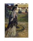 Woman in a Park Giclee Print by Charles Cottet