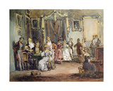 An Evening at the House of Madame X Giclee Print by Henri Bonaventure Monnier
