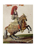 Louis Xiv (1638-1715) as a Roman Emperor, from 'Carrousel De 1662', C.1662 (Detail) Giclee Print by Israel, The Younger Silvestre