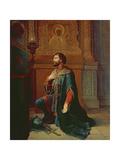A Boyar before the Campaign, 1871 Giclee Print by Petr Mikhailovich Shamshin