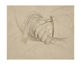 Clasped Hands, Said to Be Those of the Poet William Wordsworth Giclee Print by Benjamin Robert Haydon