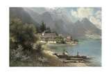 Landscape at Lake Kochelsee, Bavaria Giclee Print by Carl Prestel
