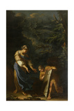 Theseus Lifting the Stone Giclée-tryk af Salvator Rosa