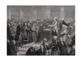 King Louis Xvi (1754-93) Accepts and Swears to the Constitution, 14th September 1791 Giclee Print by H. de la Charlerie