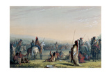 Indian Council, 1837 Giclee Print by Alfred Jacob Miller