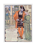 Bluebeard and His Wife, Illustration for 'Bluebeard' by Charles Perrault (1628-1703) Giclee Print by Walter Crane