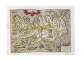 Iceland, from 'Theatrum Orbis Terrarum' Originally Executed in 1570, 1606 Giclee Print by Abraham Ortelius