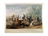 Charge of the King's Own Light Dragoons at the Battle of Chillianwala on 13th January, 1849,… Giclee Print by Henry Martens