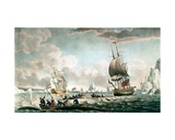 The North West or Davis's Streights Whale Fishery, Published by John and Josiah Boydell, 1789 Giclee Print by Robert Dodd