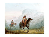Bourgeois Walker and His Squaw, 1837 Giclee Print by Alfred Jacob Miller
