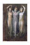 Classical Study with Three Female Forms Giclee Print by George Frederick Watts