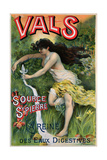 Poster Advertising 'source St. Pierre, Eau De Vals', Natural Mineral Water Giclee Print by L. Courchez