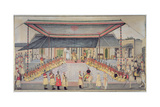 Colonel James Skinner Holding a Regimental Durbar, 1827 Giclee Print by  Ghulam Ali Khan
