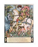 The Prince Consulting a Peasant, Illustration for 'sleeping Beauty' by Charles Perrault (1628-1703) Giclee Print by Walter Crane