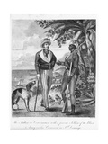 Captain Marcus Rainsford (C.1750-C.1805) with a Private Soldier of the Black Army, Frontispiece… Giclee Print by Marcus Rainsford