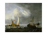 A Stormy Seascape Giclee Print by Gerrit Pompe