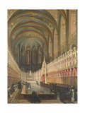 Interior of Albi Cathedral, 1832 Giclee Print by Adrien Dauzats
