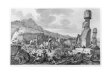 "Islanders and Monuments of Easter Island, Plate 11 from the ""Atlas De Voyage De La Perouse"",… Giclee Print by Gaspard Duche de Vancy"