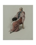 Doctor of Physic in Full Dress, Engraved by J. Agar, Published in R. Ackermann's 'History of… Giclee Print by Thomas Uwins