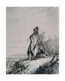 Sioux Indian Guard Giclee Print by Alfred Jacob Miller