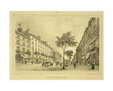 Boulevard Des Italiens, from 'Paris Et Ses Environs', Published C.1850s-60s Giclee Print by Jean Jacottet