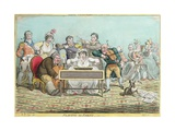 Playing in Parts, Etched by James Gillray (1757-1815) Published by Hannah Humphrey in 1801 Giclee Print by Brownlow North