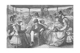 Trip on the Hudson River Steamer, 1868 Giclee Print