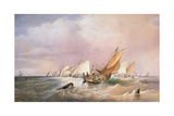 Off the French Coast, 1837 Giclee Print by Edward Duncan