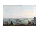 Breaking Up Camp at Sunrise, 1837 Giclee Print by Alfred Jacob Miller