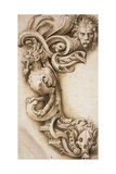 Grotesque Scroll Giclee Print by Jacopo Ligozzi
