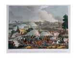 The Centre of the British Army in Action at the Battle of Waterloo, 1815 Giclee Print by William Heath