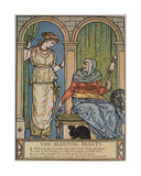 The Princess and the Old Woman with the Spinning Wheel, Illustration for 'sleeping Beauty' by… Giclee Print by Walter Crane
