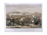 The Brilliant Cavalry Action at the Battle of Balaclava, October 25th 1854, Engraved by Edmund… Giclee Print by Henry Martens
